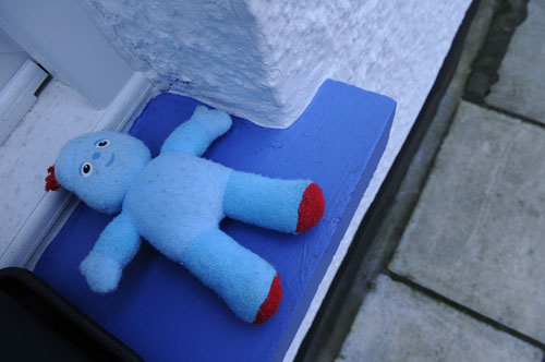 Blue Toy Windowsill